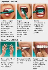 Tecnica de cepillado e higiene dental.